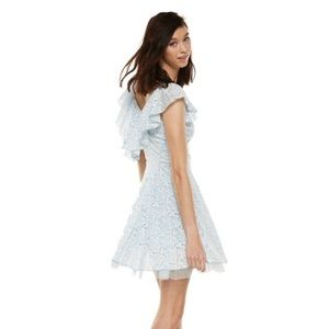 Cinderella Blue and White Lace Skater Dress (M)